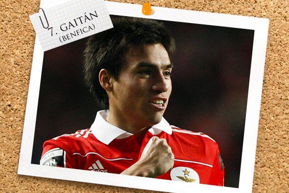 El argentino Nicolás Gaitán se sigue afianzando con el Benfica y fue par...