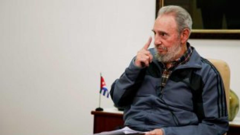 Imagen de la comparecencia televisiva ofrecida por el ex gobernante cuba...