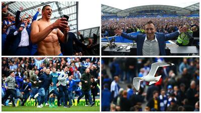 Brighton a la Premier: Así se festeja volver a primera, señores