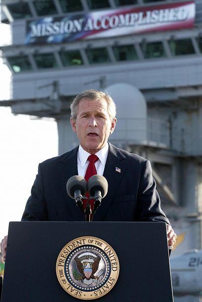 """2. """"Misión cumplida"""". George Bush anunciaba en 2003 el..."""