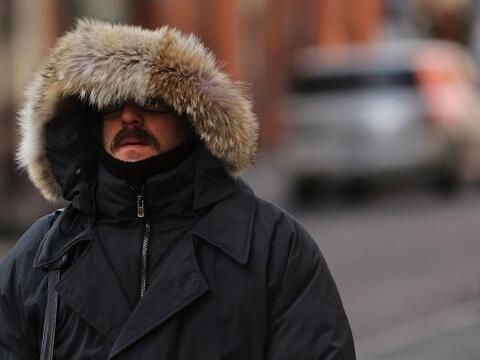 Una ola de frío azota desde el sábado el norte de Estados...
