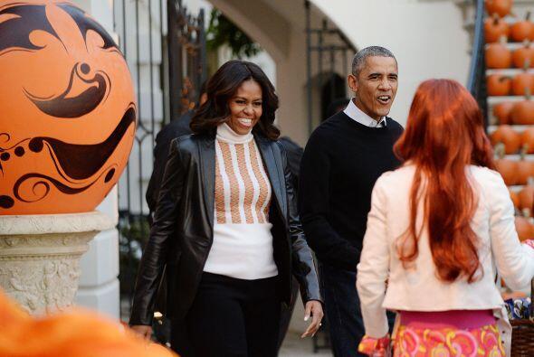 Michelle y Barack Obama siempre estuvieron sonriendo y no ocultaban so f...