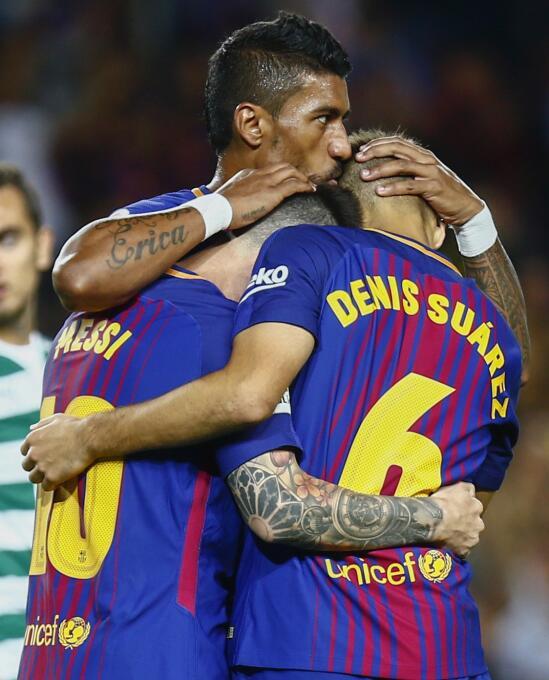 Faena de Messi en la goleada 6-1 del Barcelona sobre Eibar 6364146055473...