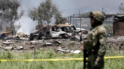 Nuevos videos muestran la segunda explosión de un taller pirotécnico en Tultepec