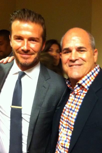 Beckham con Henry de Arcos, Ejecutivo de Ventas, Univison Radio.