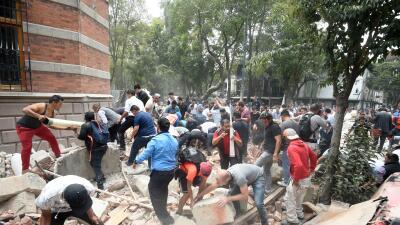 El terremoto ocurrió poco después de que México hiciera un gran simulacr...
