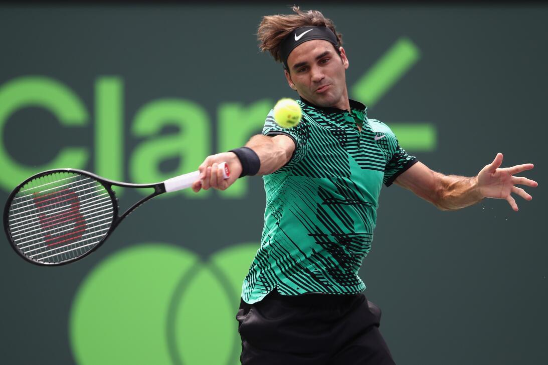 Roger Federer, el contudente campeón del ATP Miami Open 2017 GettyImages...