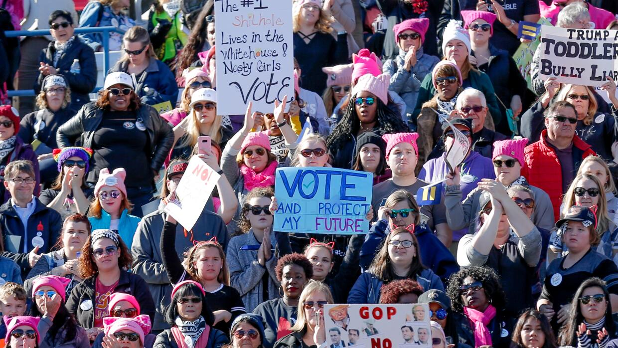 "Scenes from the ""Power to the Polls"" Women's March rally i..."