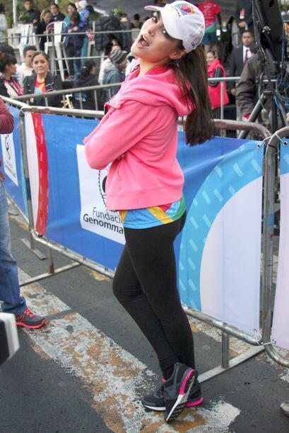 Ximena Navarrete participó en una carrera a beneficio de niños con probl...