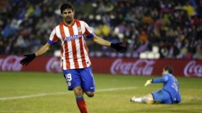 Diego Costa sumó un gol a los tres con los que los 'Colchoneros' sacaron...