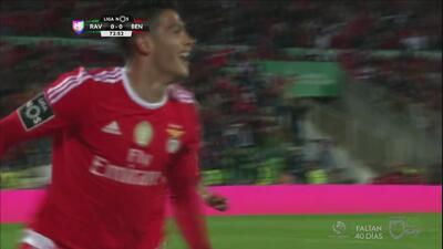 Raúl Jiménez le da un valioso triunfo al Benfica que sueña con el título