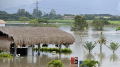 Inundación en la zona rural de Dolores en Colombia. Los daños que traen...