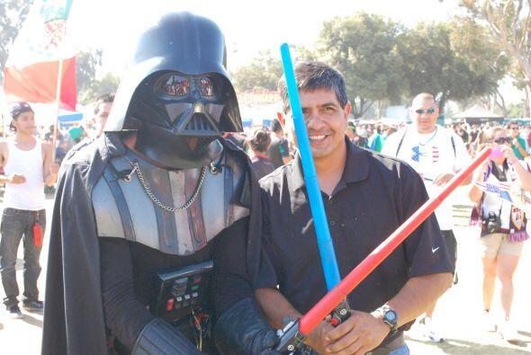Huy, ni siquiera Darth Vader se perdió la Final de la Copa Oro.