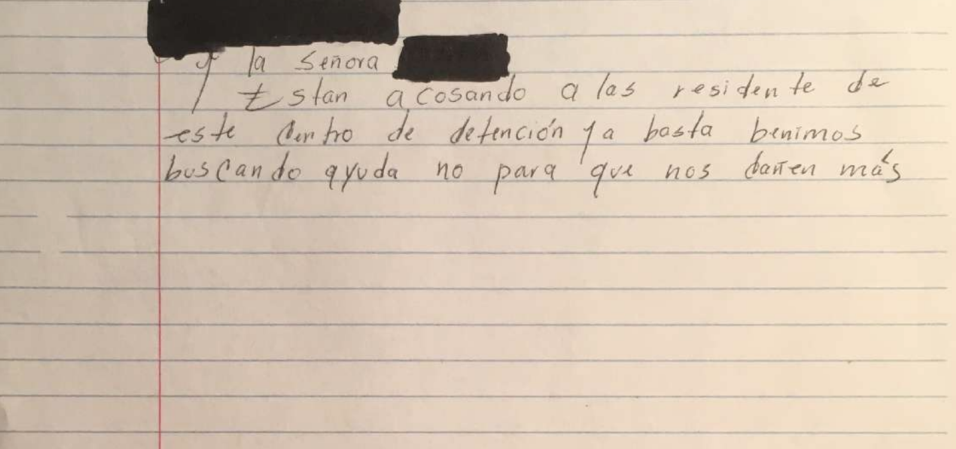 """Inmigrante detenida denuncia abuso sexual: """"Pensaba que si ella no tocab..."""