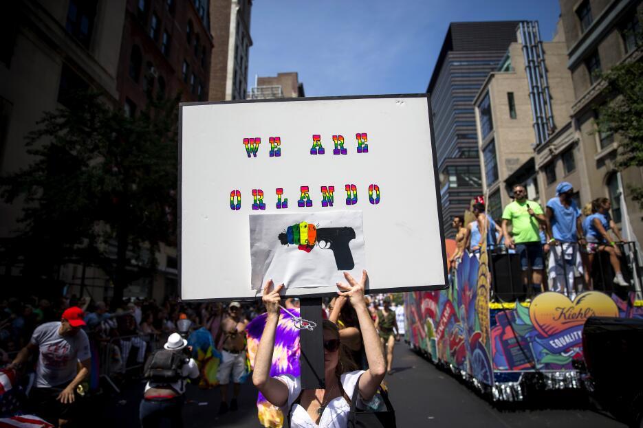 En cada esquina, la solidaridad con Orlando.