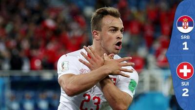 De la mano de Shaqiri, Suiza le pegó a Serbia de último minuto