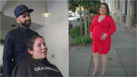 Sorprendimos a una embarazada ejemplar con un cambio de look a lo 'Jomar...