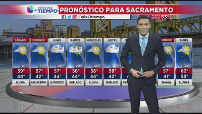 Fin de semana con posibles lluvias en Sacramento