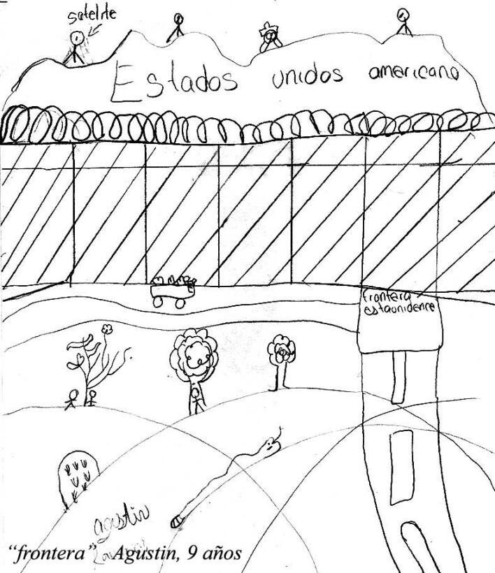 En los dibujos como el de Agustín, de 9 años, no falta la representación...