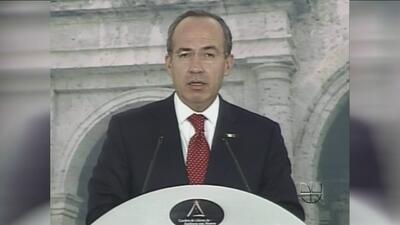 El presidente Felipe Calderón reveló amenazas contra su vida