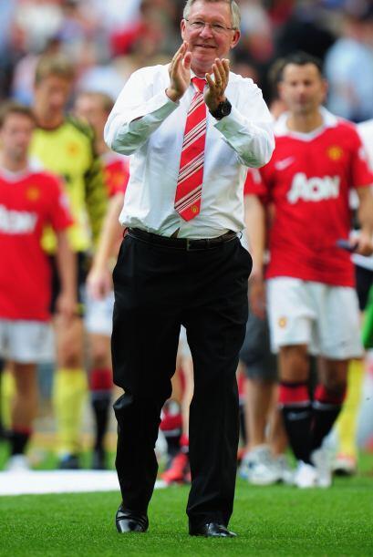 Manchester United ganó por 3-1 y Sir Alex Ferguson podía presumir otro t...