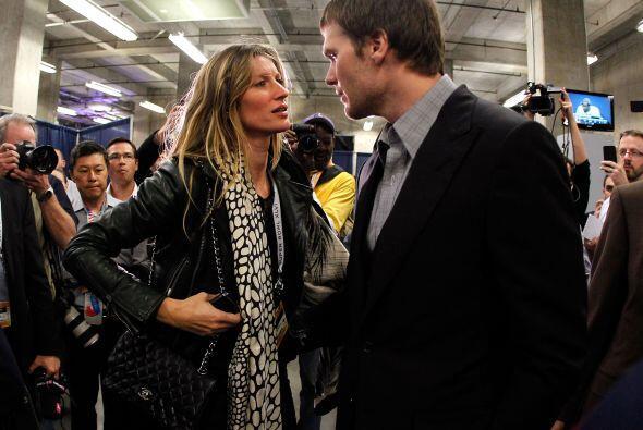 Tom Brady y Gisele BundchenEl quarterback de los Patriotas de Nueva Inlg...