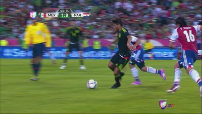 Jugada de crack de Jonathan Dos Santos en el México vs Paraguay
