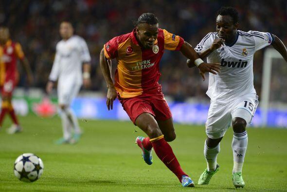 Didier Drogba fue la referencia en ataque del Galatasaray.