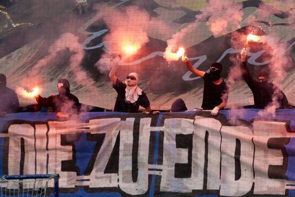 Aquí los fogosos aficionados del Hamburgo.