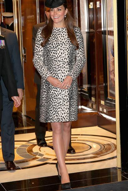 Embarazada, Kate lucía fantásticos 'animal prints'.