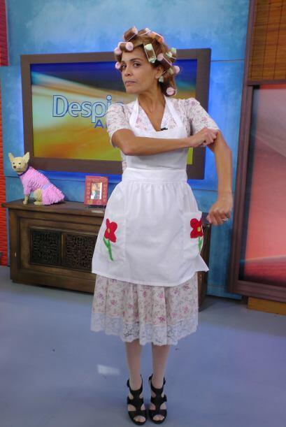 Así recordó Karla a la famosa 'Doña Florinda'.