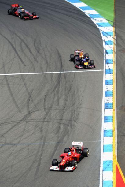 El circuito de Hockenheim fue testigo de algunas de las maniobras más at...