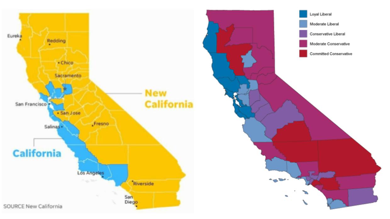Movimiento Republicano Declara La Independencia De Varios - Mapa de california
