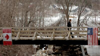 En fotos: Así es la frontera entre EEUU y Canadá