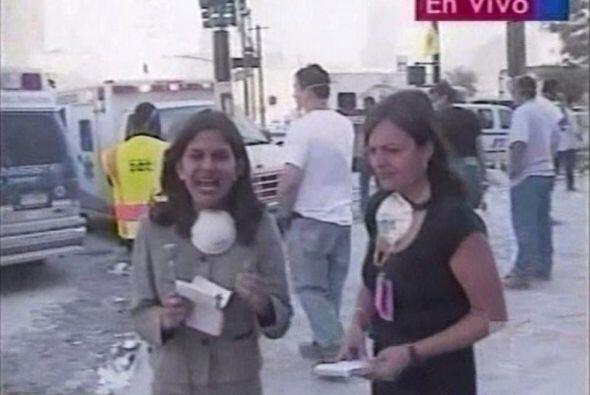 Natalia asumió su rol de reportera y transmitió en vivo la peor tragedia...
