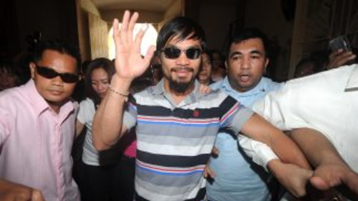 Pacquiao de regreso en Filipinas.