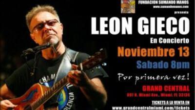 El cantautor argentino León Gieco tocará por primera vez en Miami.