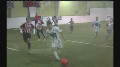 Acción en el American Indoors Soccer de San Antonio