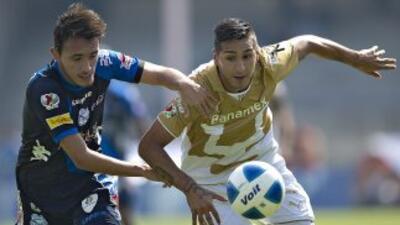 Puebla le empató a Pumas con dos goles en el tiempo de descuento.