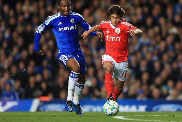 El otro partido de la jornada tuvo al Chelsea recibiendo al Benfica.