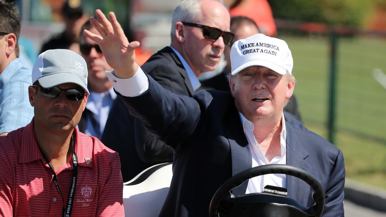 Trump durante un torneo de golf en su campo de Doral, en Miami-Dade