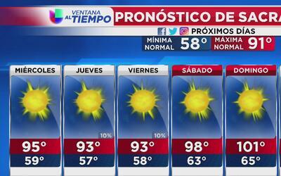 Día soleado y cálido en Sacramento