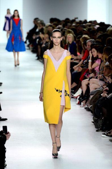 Una paleta cromática predominó en esta colección de Christian Dior, que...