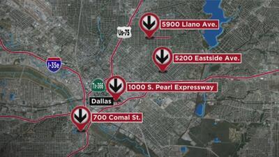 Autoridades buscan a los responsables de cometer ocho robos en Dallas