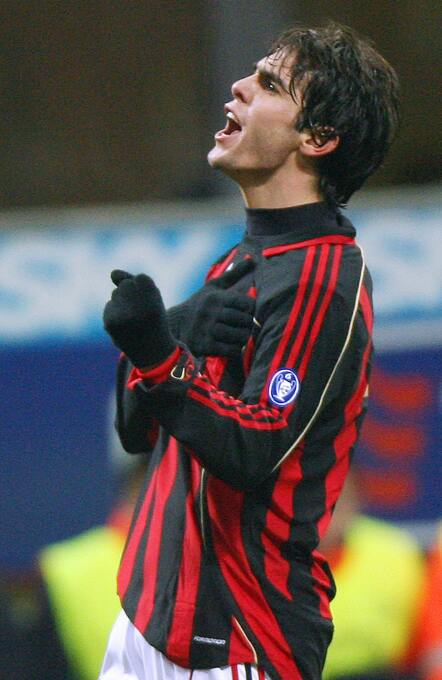 Temporada 2006/2007 - Kaká (A.C. Milan) con 10 goles.