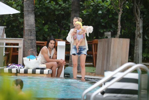 Radamel pasó unas vacaciones de ensueño en Miami con su fa...