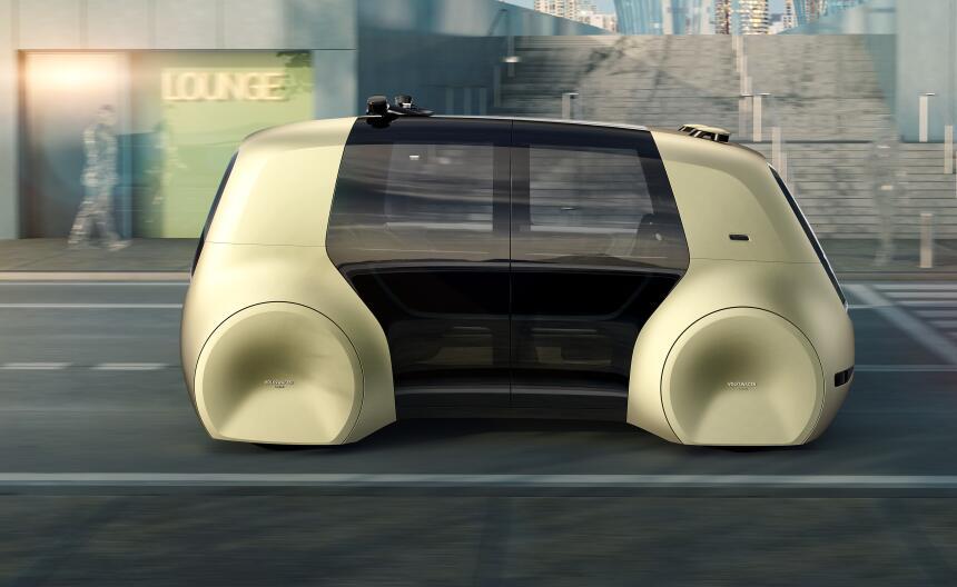 Este es el nuevo vehículo autónomo de Volkswagen, el Sedric