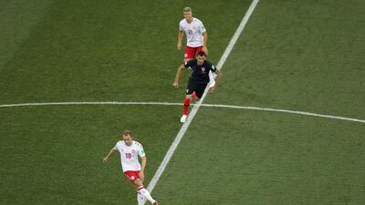 En fotos: siguiendo los pasos de Christian Eriksen en el Dinamarca vs Croacia