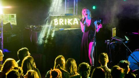Brika performs at '3 Days in Miami' event in February 2017.