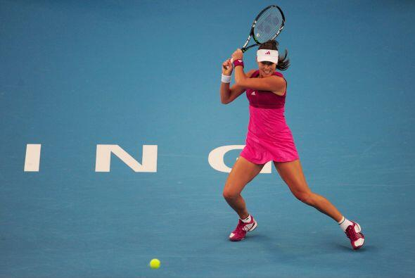 La ex número uno, la serbia Ana Ivanovic, no pudo superar a Wozniacki.
